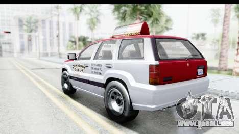 GTA 5 Canis Seminole Downtown Cab Co. Taxi para GTA San Andreas left