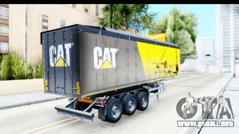 Trailer Caterpillar para GTA San Andreas left