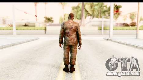 Left 4 Dead 2 - Zombie Military para GTA San Andreas tercera pantalla