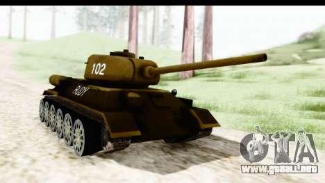 T-34-85 Rudy 102 para la visión correcta GTA San Andreas