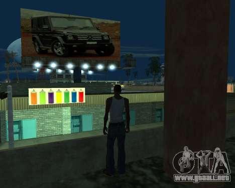 Pintar el garaje para GTA San Andreas