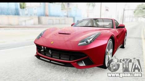 Ferrari F12 Berlinetta 2014 para GTA San Andreas vista posterior izquierda
