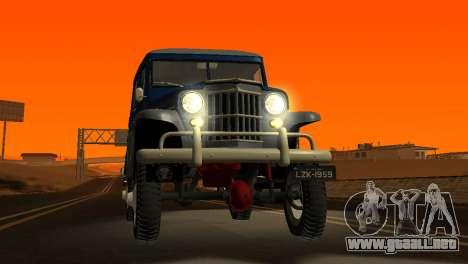 Jeep Station Wagon 1959 para vista lateral GTA San Andreas