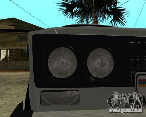 VAZ 2106 armenia para las ruedas de GTA San Andreas