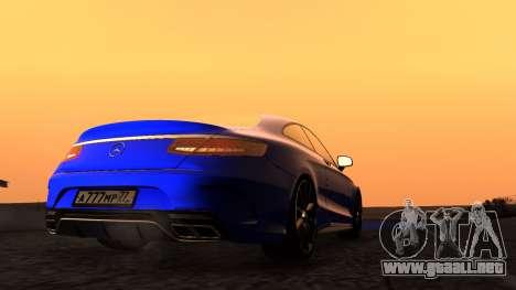 Mercedes-Benz S63 Coupe para la visión correcta GTA San Andreas