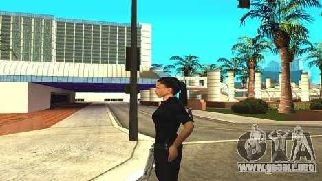 La piel de una mujer policía para GTA San Andreas sucesivamente de pantalla