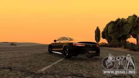 Mercedes-Benz S63 Coupe para GTA San Andreas left