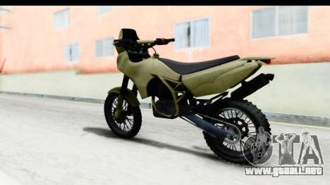GTA 5 Nagasaki BF400 Stock IVF para GTA San Andreas left