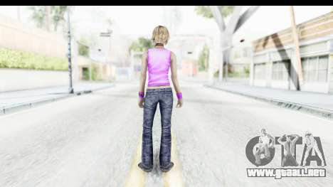 Silent Hill 3 - Heather Sporty Neon Pink para GTA San Andreas tercera pantalla