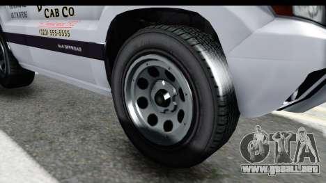 GTA 5 Canis Seminole Downtown Cab Co. Taxi para GTA San Andreas vista hacia atrás