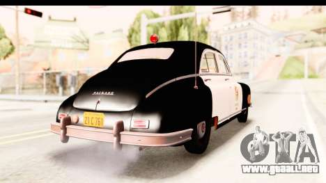 Packard Standart Eight 1948 Touring Sedan LAPD para GTA San Andreas vista posterior izquierda