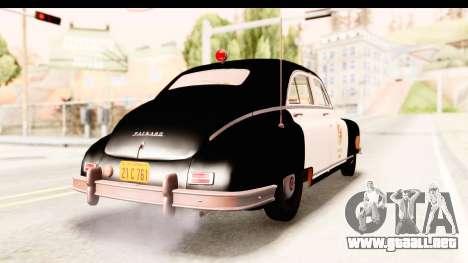 Packard Standart Eight 1948 Touring Sedan LAPD para GTA San Andreas vista posterior izquierda