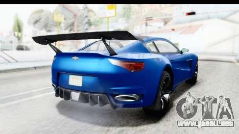 GTA 5 Dewbauchee Seven 70 para GTA San Andreas left