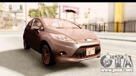 Ford Fiesta para la visión correcta GTA San Andreas