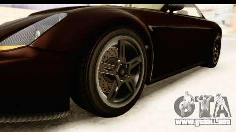 GTA 5 Dewbauchee Rapid GT SA Style para GTA San Andreas vista hacia atrás