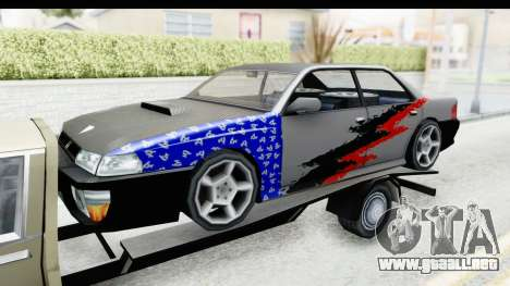 Limousine Auto Transporter para GTA San Andreas vista hacia atrás