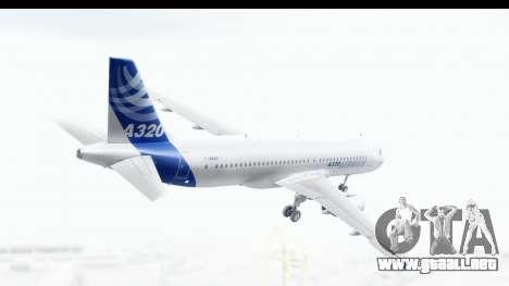 Airbus A320-200 Industrie MSN 1 2005 - 2012 para la visión correcta GTA San Andreas