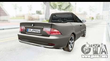 Ikco Samand Pickup v1 para GTA San Andreas vista posterior izquierda