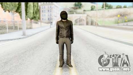 GTA 5 Heists DLC Male Skin 2 para GTA San Andreas segunda pantalla