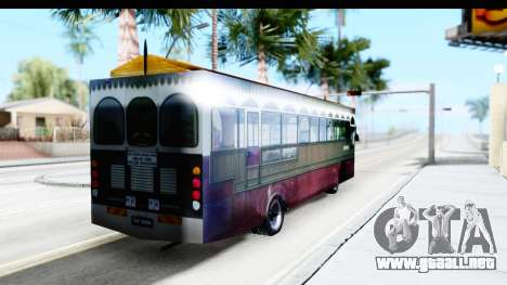 Cas Ligas Terengganu City Bus Updated para GTA San Andreas vista posterior izquierda