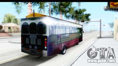 Cas Ligas Terengganu City Bus Updated para GTA San Andreas vista posterior izquierda