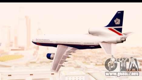Lockheed L-1011-100 TriStar British Airways para GTA San Andreas left