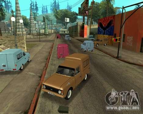 Moskvich 2715 De Armenia para visión interna GTA San Andreas