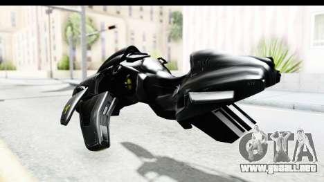 Spectre Hoverbike para GTA San Andreas vista posterior izquierda