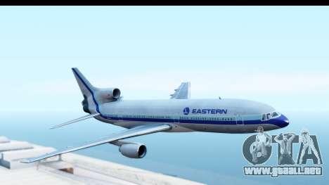 Lockheed L-1011-100 TriStar Eastern Airlines para GTA San Andreas vista posterior izquierda