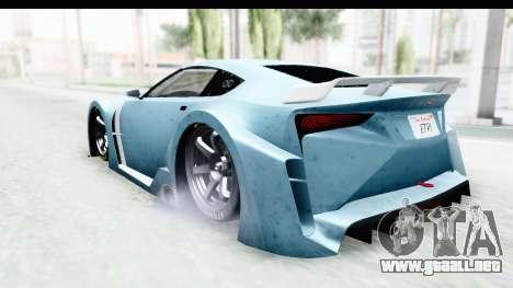 GTA 5 Emperor ETR1 v2 IVF para GTA San Andreas left