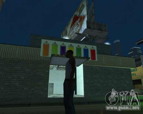 Pintar el garaje para GTA San Andreas tercera pantalla