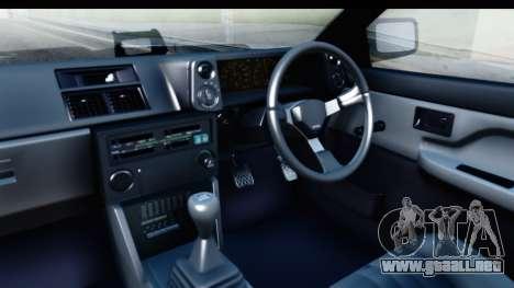 NFS 2015 Toyota AE86 para visión interna GTA San Andreas