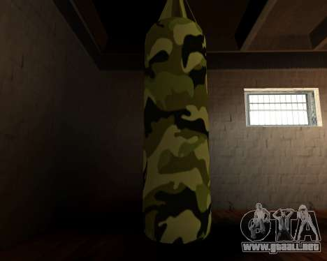 Militar nueva bolsa de boxeo para GTA San Andreas tercera pantalla