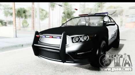 Sri Lanka Police Car v1 para GTA San Andreas vista posterior izquierda