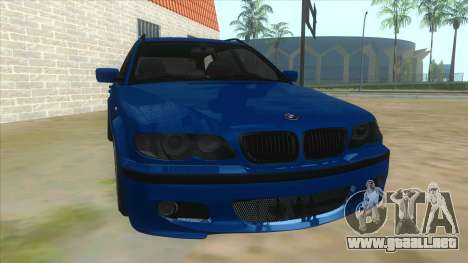 BMW E46 Touring Facelift para GTA San Andreas vista hacia atrás