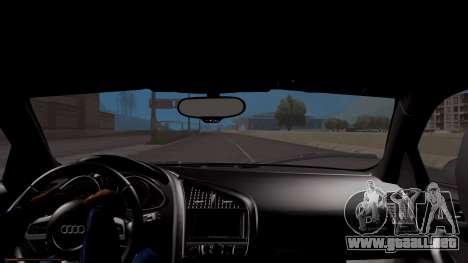 Audi R8 5.2 FSI Quattro 2010 para la visión correcta GTA San Andreas
