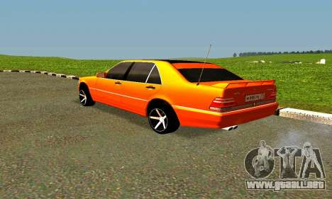 Mercedes Benz S600 AMG para GTA San Andreas left