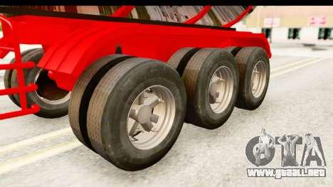 Trailer Fuel para GTA San Andreas vista hacia atrás