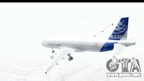 Airbus A320-200 Industrie MSN 1 2005 - 2012 para GTA San Andreas left