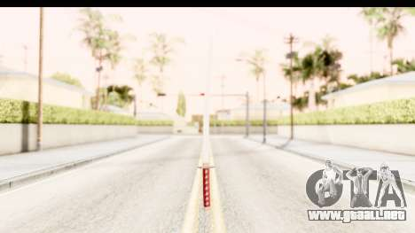 Bleach - Rukia Weapon para GTA San Andreas segunda pantalla