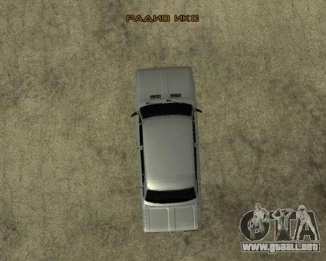 VAZ 2106 armenia para la vista superior GTA San Andreas