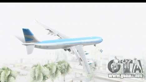 Airbus A340-300 Aerolineas Argentinas para la visión correcta GTA San Andreas