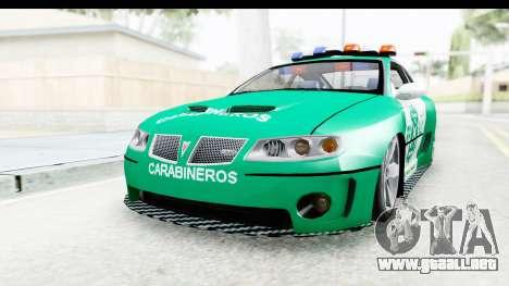 Pontiac GTO 2006 Carabineros De Chile para la visión correcta GTA San Andreas