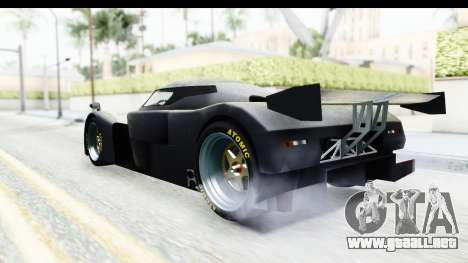 GTA 5 Annis RE7B para GTA San Andreas vista posterior izquierda