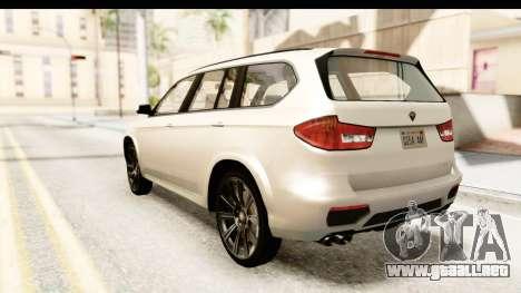 GTA 5 Benefactor XLS SA Style para GTA San Andreas left