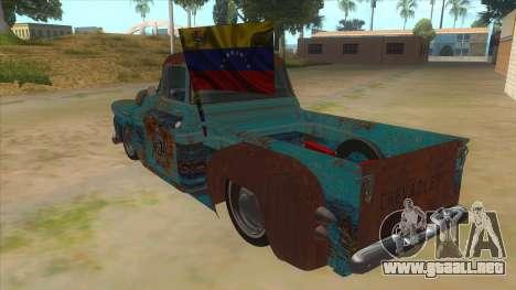 Chevrolet Apache para GTA San Andreas vista posterior izquierda