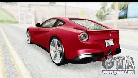 Ferrari F12 Berlinetta 2014 para GTA San Andreas left