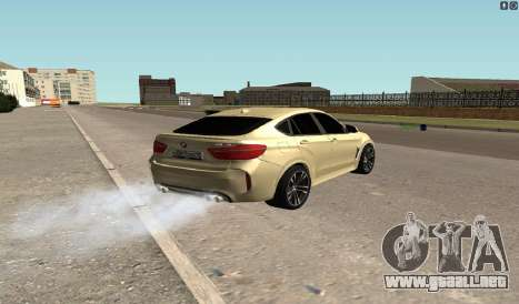 BMW X6M Bulkin para GTA San Andreas vista posterior izquierda