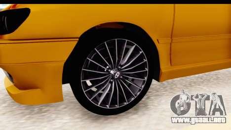 Peugeot 306 GTI para GTA San Andreas vista hacia atrás