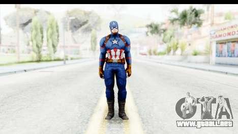 Marvel Heroes - Capitan America CW para GTA San Andreas segunda pantalla